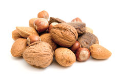 Selection of nuts Royalty Free Stock Photography