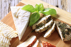Selection Of Cheeses Royalty Free Stock Photos