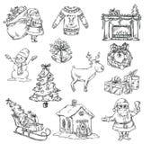 Selection Of Christmas Symbols Stock Image