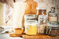 Free Selection Of Gluten-free Products Stock Photo - 94035590