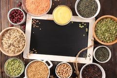 Free Selection Of Raw Grain And Legume Royalty Free Stock Photography - 157756237