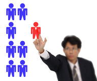 Selection officer of human resources Stock Photography