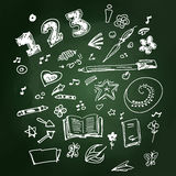 Selection of old school doodles Royalty Free Stock Photo