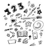 Selection of old school doodles Royalty Free Stock Images