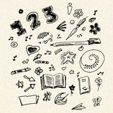 Selection of old school doodles Royalty Free Stock Photography