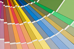 Selection of paint sample swatches Royalty Free Stock Photo