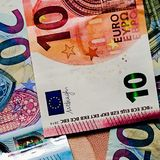 Euro Money. A selection of paper euro money royalty free stock images