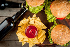 Selection party food royalty free stock photos