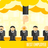 Selection of the personnel. Choosing person for hiring. Job and staff, human and recruitment, select people. Vector illustration Stock Image
