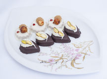 Selection of petit fours Royalty Free Stock Photo