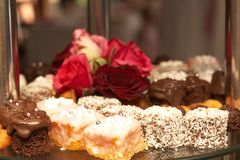 Selection of petit-fours Royalty Free Stock Photos