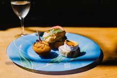 Selection of pintxos in Basque Country royalty free stock image