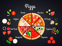 Selection Of Pizza Concept Stock Photo