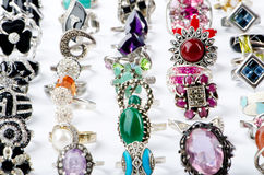 Selection of  precious rings Stock Images