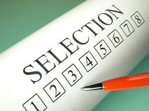Selection process Royalty Free Stock Images