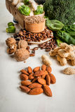 Selection of products with a high content of vegetable protein stock image