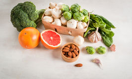 Selection of products to enhance the health and immunity Stock Images