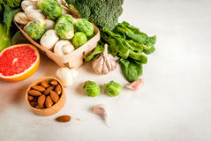 Selection of products to enhance the health and immunity Stock Photography