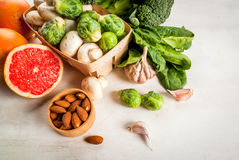 Selection of products to enhance the health and immunity stock image