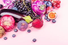 Selection of purple foods royalty free stock image