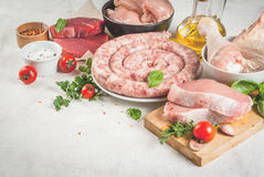 Selection of raw meat Stock Image
