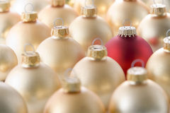Selection of red and gold christmas decorations Stock Photography