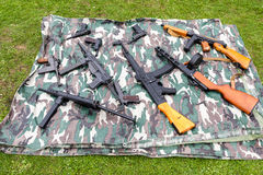 Selection of replica guns Royalty Free Stock Image