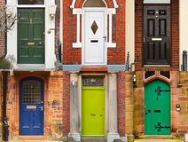 House front doors Stock Photos