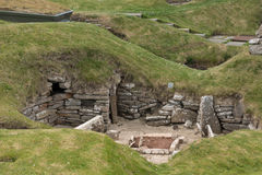 Selection of ruins at Skara Brae, Orkney, Scotland. Royalty Free Stock Photos