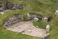 Selection of ruins at Skara Brae, Orkney, Scotland. Royalty Free Stock Photography