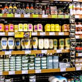 Selection of Salad Cream and Dressings. Heinz Salad Cream is to be Renamed Sandwich Cream After 104 Years As Sales Fell Off. However 2018 Sales was Nearly £29 stock photo