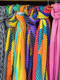 Selection of scarves for sale Royalty Free Stock Photos