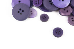 Selection selection of various purple buttons Royalty Free Stock Image