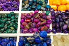 Selection of semiprecious stones Stock Photos