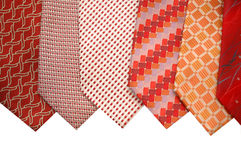 Selection of silk ties. Isolated on white royalty free stock images
