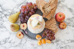 Selection of soft cheeses Stock Photo