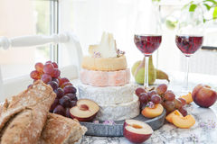 Selection of soft cheeses Stock Photos