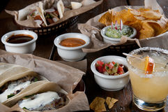 Selection of soft tacos Stock Photo