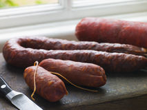 Selection of Spanish Sausages Royalty Free Stock Photo