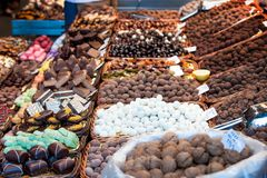 Selection of Spanish sweets Royalty Free Stock Photo