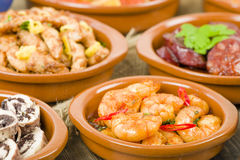 Selection of Spanish Tapas Royalty Free Stock Image