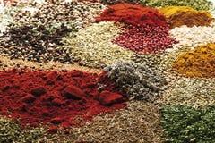 A selection of spices Stock Photos