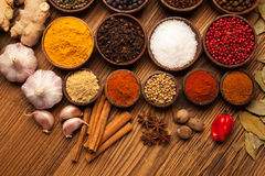 A selection of spices and food Stock Images