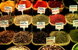 Selection of Spices. Istanbul. Selection of spices. The 17th. Century Spice Bazaar, Istanbul, Turkey stock photos