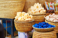 Selection of spices on a Moroccan market Stock Photography