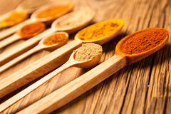 A selection of spices. studio shot Royalty Free Stock Photo