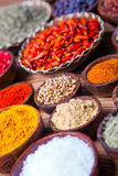 A selection of spices Royalty Free Stock Photography
