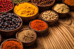A selection of spices Stock Photo