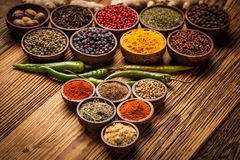 A selection of spices Royalty Free Stock Images