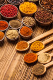 A selection of spices Royalty Free Stock Photos